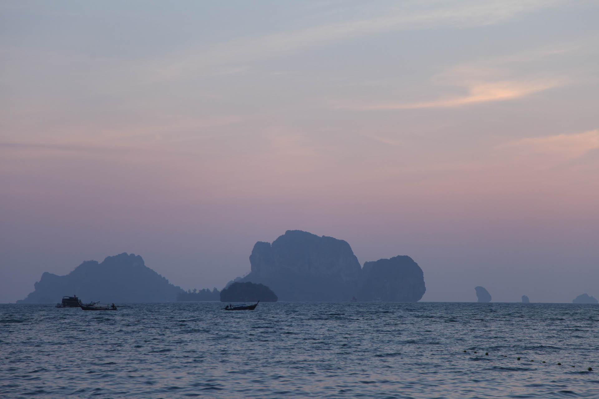 View from Tonsai Beach at Dusk
