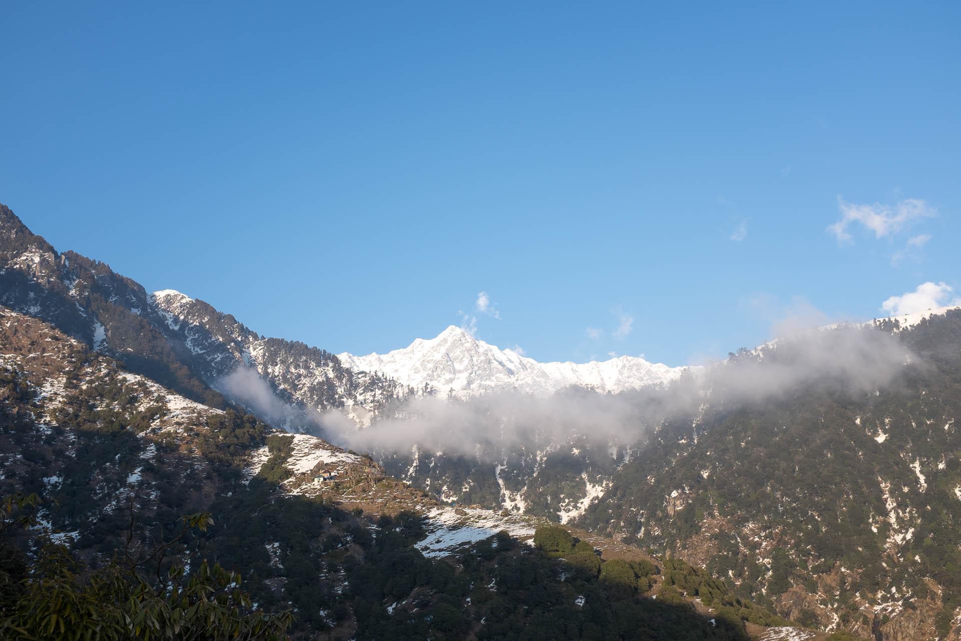 Moon Peak over Bhagsu and McLeoad Ganj, Dharamshala