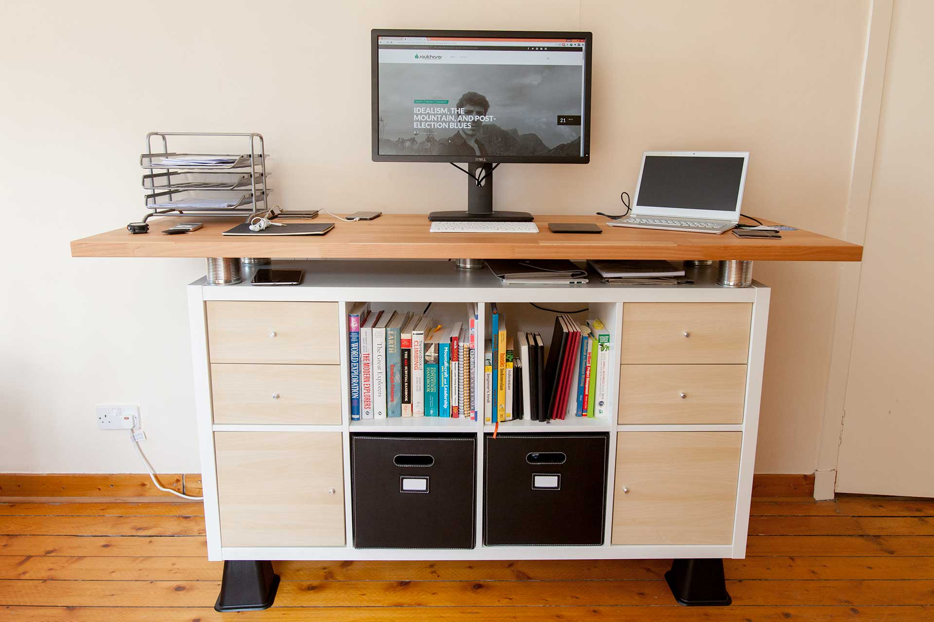 my awesome standing desk ikea hack soulchaser. Black Bedroom Furniture Sets. Home Design Ideas